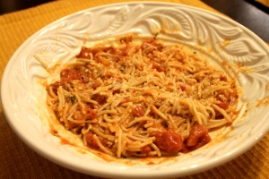 Sprinkle with a bit more parmesan cheese and you've got yourself a healthy, delicious pasta dinner!