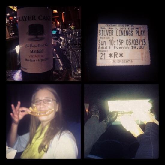 Wendy with her movie theater pretzel mustache