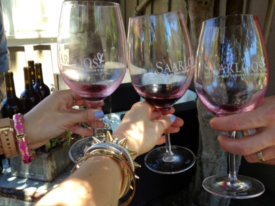 We celebrated our accomplishment with a day of wine tasting!